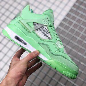 OFF-WHITE x Air Jordan 4 SP WMNS fluorescent green